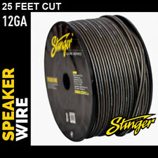 25 Foot Cut Stinger Hyper Twist 12 Gauge AWG Grey Copper Speaker Wire SHW512G