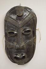 Papua New Guinea Ramu River Mask Black Wood Men Clan Markings