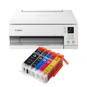 Canon Pixma TS6351 Weiß DRUCKER SCANNER KOPIERER WLAN Duplex-Druck + 5 XXL TINTE