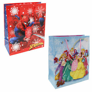 Character Christmas Present Gift Bag with Tag - 31x26.5x12.5cm