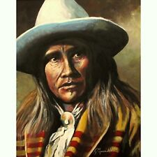 """ Cowboy Indian "" a giclee print of an original painting by Kevin Meredith"
