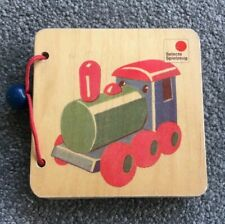 Selecta Wooden Toy Picture Book Vehicles Wheels | Baby Toddler Kid Montessori