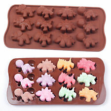 12-Dinosaur Silicone Mould Cake Chocolate Fondant Candy Mold Decorating Tray tab