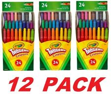 Crayola Twistables Mini Crayons Art Project School Non-Toxic (12 Packs of 24)