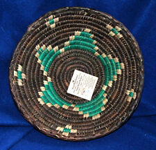 "Small Handwoven Basket Collectible Decorative New Southwestern 8.5x2.5"" S-16"