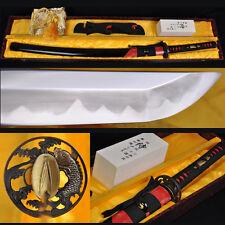 CLAY TEMPERED HANDMADE KATANA SAMURAI JAPANESE SWORD HAZUYA POLISH BLADE KATANAS