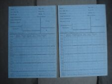 2 Unused Vintage Telephone Calls? Account Meter Reading Cards