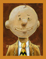 Mr. Brown Lowbrow Pop Art Artist Print The Peanuts Charlie Brown Parody