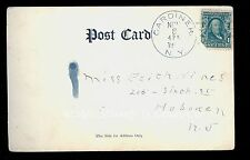 1905 UDB Postcard Order of the Garter Gardiner NY Doane Cancel Ty 2 #5  B1907
