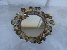 VINTAGE CURTIS JERE RAINDROPS CIRCULAR MIRROR DATED 1969