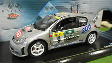 PEUGEOT 206 WRC #9 RALLYE MONTE CARLO 2000 au 1/18 SOLIDO 202991/01 voiture