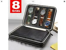 Case Pu Leather With Zippier Brand New 8 Grid Travel Watch