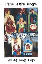 5 New Wood ORNAMENTS with Painting Pattern & Instructions by Terry French