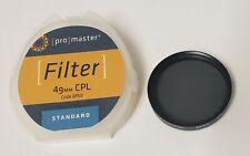 Promaster 49mm CPL 6950 Circular Polarizing Lens Filter Standard FREE SHIPPING