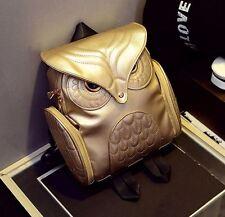 Rucksack Eule gothic gold tasche kunstleder B040