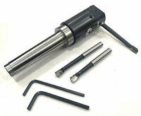 High Precision 30 mm Micro Boring Head & MT2 shank- M10 x 1.5 TPI+3 boring bars