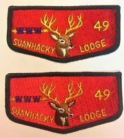 MERGED SUANHACKY OA LODGE 49 4 24 82 112 NEW YORK QUEENS TWO OLD FLAP VARIETIES