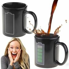 Battery Color Changing Thermometer Heat Sensitive Porcelain Tea Coffee Milk Mug