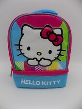 Hello Kitty Thermos Insulated Dual Compartment Lunch Bag Sanrio 2015 Gently Used