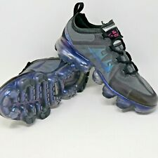 Nike Air VaporMax GS Throwback Future Black Grey Blue Women Sz 8, Youth Sz 6.5y