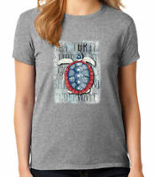 Blue White Red Turtle Ladies T-shirt American Sea Turtle Women's Tee - 1570C