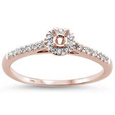 .19ct G SI 14k Rose Gold Semi Mount Diamond Engagement Ring Size 6.5