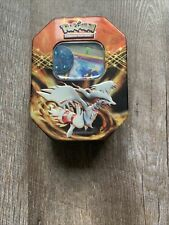 Used Pokemon Black And White Metal Tin With Assorted Cards And Ninetales Coin