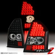 2005 2006 2007 Chrysler 300 MURDER OUT Black Rear Brake Tail Lights LED SMD PAIR