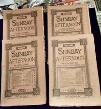 Lot 4 Sunday Afternoon Periodical Magazine 1879 FREE SHIP #s 20 16 15 3