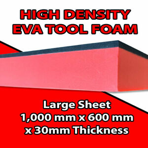 1Mx0.6Mx30mm EVA Tool Chest Foam Sheet DIY for your tool layout