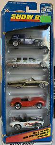 1998 Mattel Hot Wheels Show Biz Gift Pack Set #21078 5 Cars