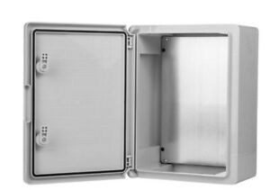 WEATHERPROOF IP65 LOCKABLE ABS ENCLOSURE WITH METAL BASE PLATE CLASSIC WALL BOX