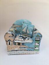 Ooak Handmade Miniature ArmChair Nautical Theme 1/12th Dolls House- Bespoke
