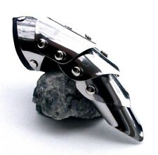 Stainless Steel Armour Ring Gothic Steampunk Articulated Claw Handmade in the UK