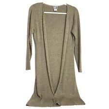 Clio Silk Blend Long Open Front Sweater Womens Medium. D16