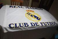 BANDERA DE  FUTBOL OFICIAL DEL REAL MADRID ESCASA Y MUY COTIZADA      FLAG