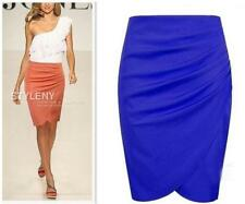 Celeb OL Lady 4Colors Fit Knee Length Step Solid Slim Business Pencil Skirt - LG