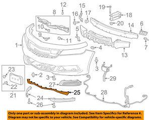 Chevrolet GM OEM 14-16 Impala Front Bumper Grille-Lower Deflector 22990242