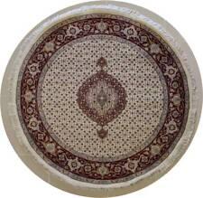 Rugstc 6x6 Senneh Pak Perse Blanc Tapis,Noués à la Main,Traditionnel avec Laine