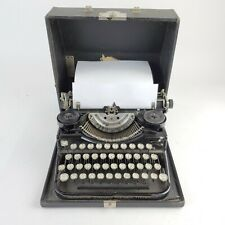 RARE Vtg Wood Grain UNDERWOOD Standard 4 Bank Keyboard Portable TYPEWRITER