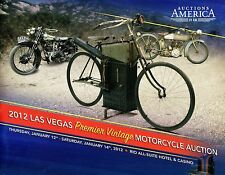 2012 Auctions America Las Vegas Premier Vintage Motorcycle Auction Brochure