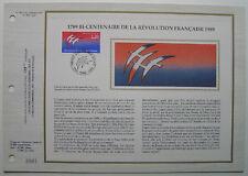 JEAN MICHEL FOLON  Feuillet CEF Timbre 1er jour SOIE - 1989