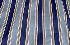 """Blue//Gray Stripe Curtains 52"""" Wide, 63"""" Long, Made in the USA"""