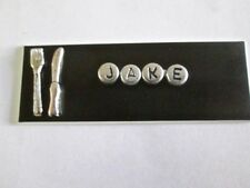ID NAME TAG BADGE MAGNET OR PIN, KNIFE,FORK,RESTAURANT,CHEF,COOK,WAITRESS,
