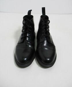 Dr Martens Emmeline Smooth Leather Lace Up Ankle Boot Black Size 7 US L / 5 UK