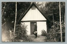 "Trappist Monk ""Solitude de Mary"" RPPC Oka Quebec RARE Antique Catholic Photo 10s"