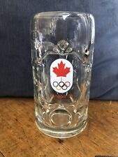 """New Listing7.5"""" Canada 1976 Olympics Beer Glass Mug Stein Montreal Collectible Sports Bar"""
