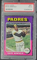1975 Topps #61 Dave Winfield HOF San Diego Padres PSA 5 Excellent NQ