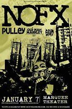 NOFX / PULLEY /OLD MAN MARKLEY/GRIM 2012 PHOENIX CONCERT TOUR POSTER - Punk Rock