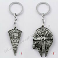 "Cool ! Movie star War starship 12cm/4.8"" Metal Key Ring Chain New In Box"
